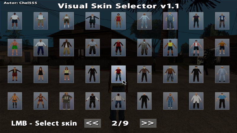 Gta san andreas skin selector mod!! How to use + download link.