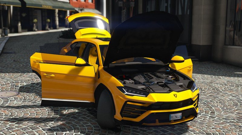 Gta 5 Lamborghini Urus 2018 Add On Mod Gtainside Com