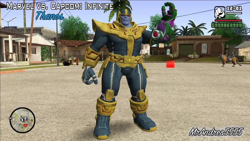 GTA San Andreas Thanos from Marvel vs  Capcom: Infinite Mod