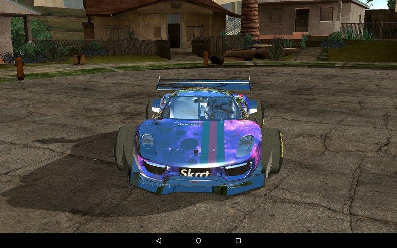 GTA San Andreas Galaxy Camo Livery for Porsche 918 F1 [9Works] Mod