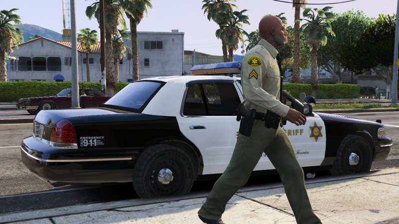 GTA 5 [ELS] 1998 Ford Crown Victoria P71- Los Angeles Sheriff's Dept
