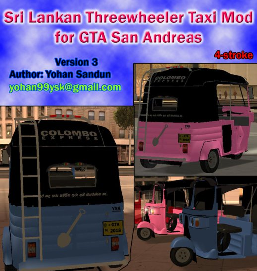 Sri Lankan Three Wheeler Taxi