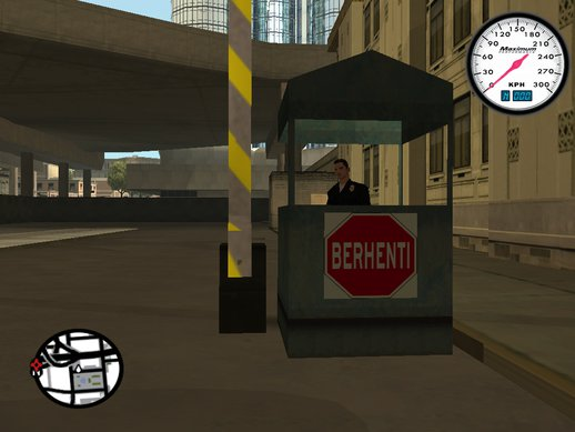 Malaysia Building Stop Exit Sign at LSPD