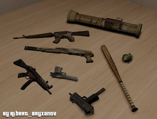Weapons Pack From Postal 2 Complete