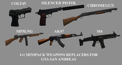 1st Minipack Weapon Replacers
