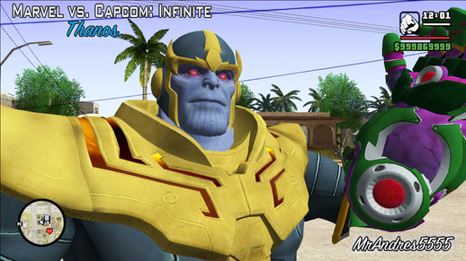 Thanos from Marvel vs. Capcom: Infinite