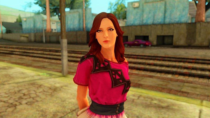 GTA San Andreas Amazing Player Female REMASTERED Mod - GTAinside com
