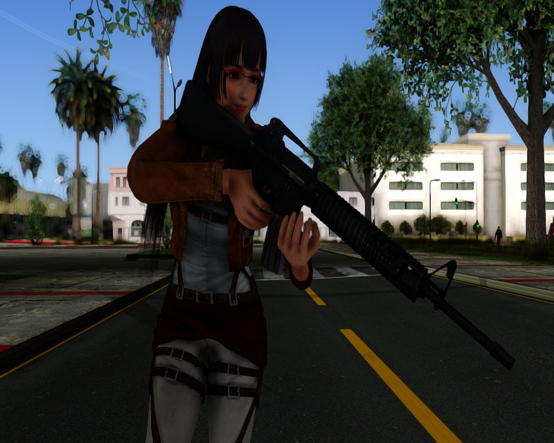 GTA San Andreas Naotora Extra Costume 01 Attack on Titan Mod