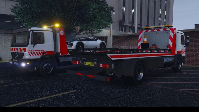 Gta 5 Mercedes Benz Actros Flatbed Tow Truck Els Mod