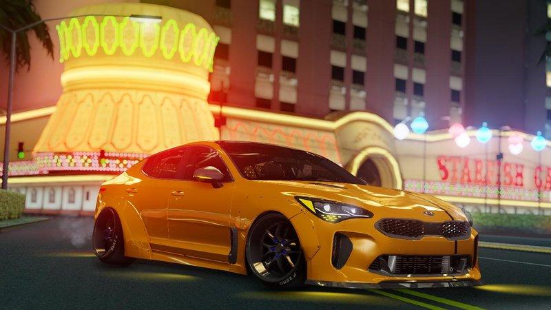 Kia Stinger Gt >> GTA San Andreas Kia Stinger GT Wide Body Kit 2018 Mod - GTAinside.com