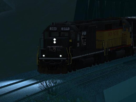EMD SD40 Freight-2 Brown Streak Railroad