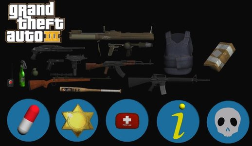 GTA III Weapon Pack v2 and Pickups