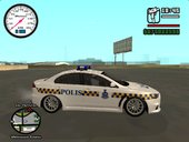 Mitsubishi Lancer Evolution X Malaysia Police with Battenburg Livery