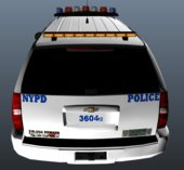 2015 NYPD Police Tahoe with correct NYPD style lights [ELS]