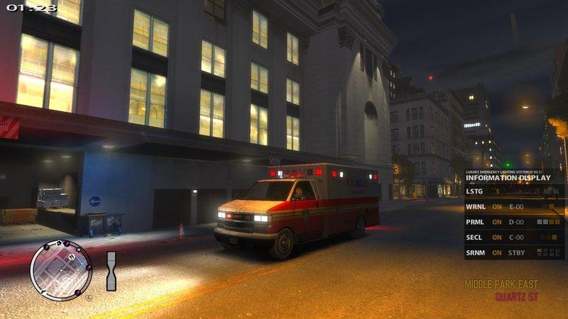 GTA 4 Brute Ambulance FDLC Code 3 Excalibur [ELS - DROT] Mod