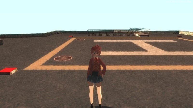 GTA San Andreas Sayori (DDLC) Mod - GTAinside com