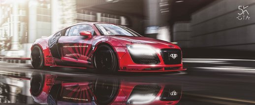 Audi R8 V10 Liberty Walk [Add-on]