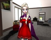 Elsa [Red Dress Mod] From Frozen Free Fall
