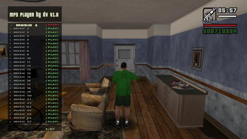 GTA San Andreas Music Player V1 8 Mod - GTAinside com