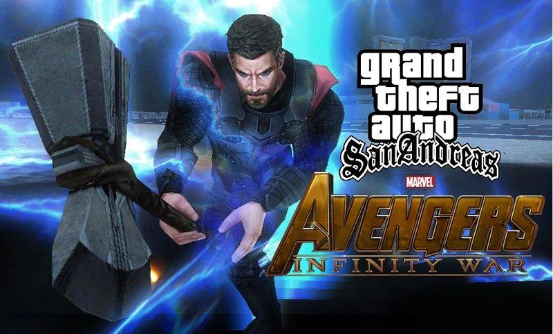 GTA San Andreas Thor Infinity War Mod - GTAinside com