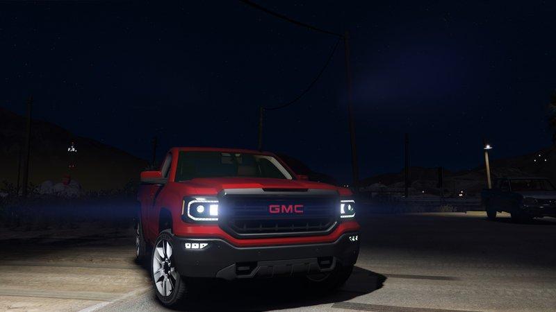 GTA 5 GMC Sierra 2018 Single Cab [ Unlocked ] Mod