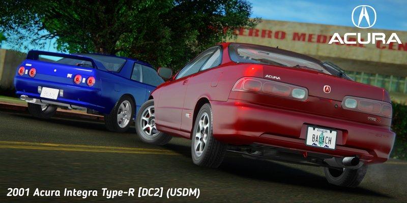 GTA San Andreas Acura Integra TypeR DC USDM Mod - Acura integra mods