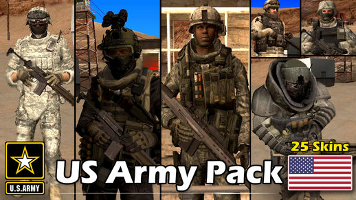 US Army Skin Pack (25 Skins)