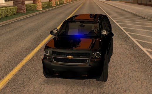 Chevrolet Tahoe SUV (police livery) lowpoly, 550kb