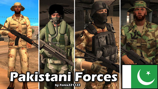 Pakistani Forces Skin Pack