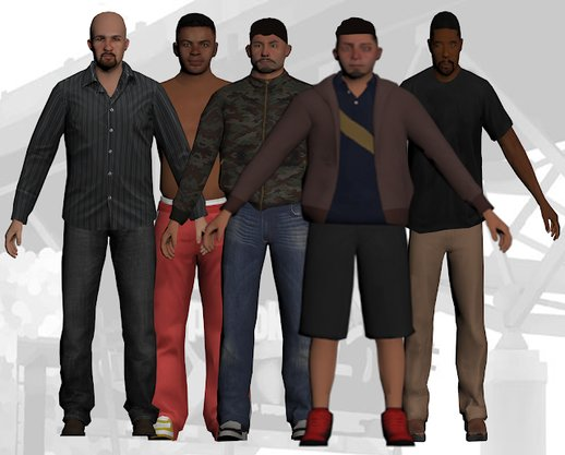 GTA V Ped Skin Pack for San Andreas