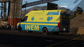 Portuguese INEM Logistic Support Vehicle - Volkswagen Crafter Long [AddOn / Livery]