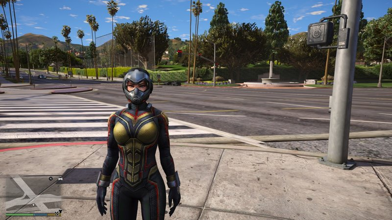 GTA 5 The Wasp From Ant-Man And The Wasp Movie Mod