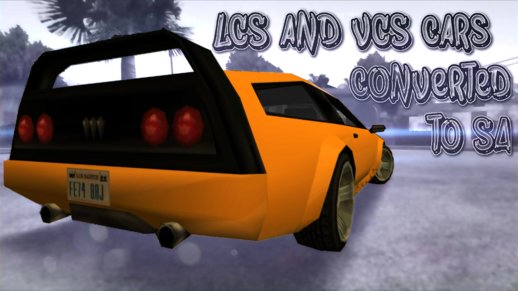 GTA LCS & VCS Cars converted to San Andreas