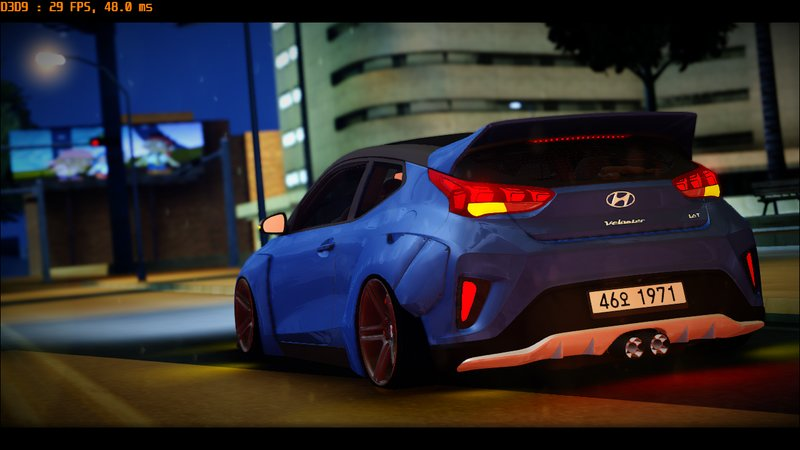 Gta San Andreas 2019 Hyundai Veloster Turbo Widebody Mod