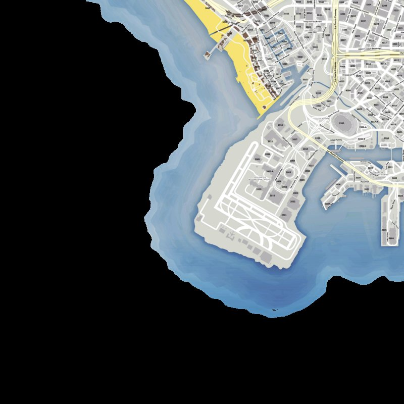 GTA 5 SP/Fivem DOJRP Styled Map With Street Names and Addresses Mod