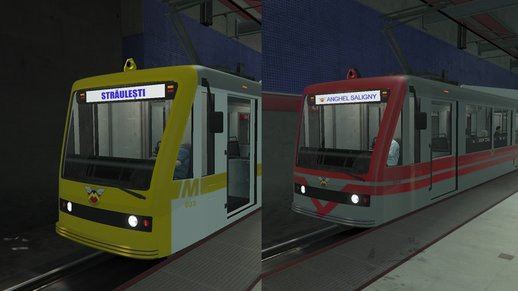 Bucharest Romania Metro / Subway / Tram /Train paintjob (with graffiti)