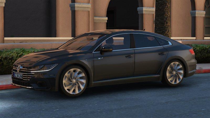 GTA 5 2018 Volkswagen Arteon - Danish Police Unmarked - [ELS/OIV
