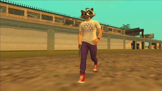 GTA Online Racoon Hipster for GTA SA