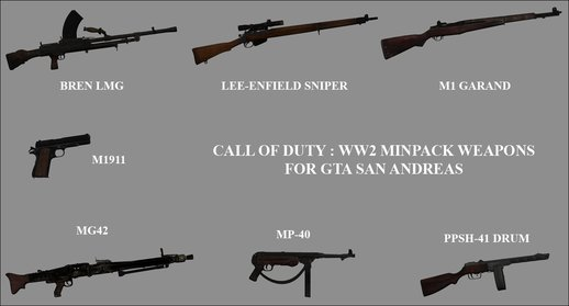 COD WW2 Weapons Minipack #1