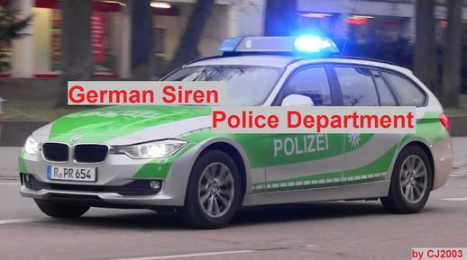 [2018] German Police Department Siren