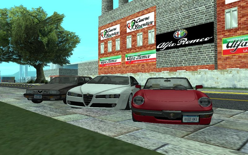 Gta San Andreas Alfa Romeo Factory Mod Gtainside Com