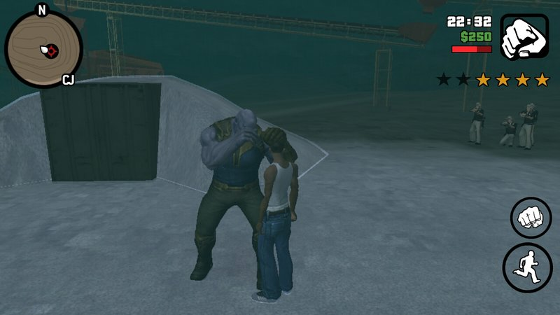 GTA San Andreas Fight With Thanos For Android Mod