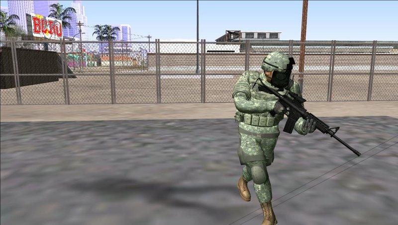 GTA San Andreas US Army ACU Skin (Gasmask) FIXED Mod - GTAinside com