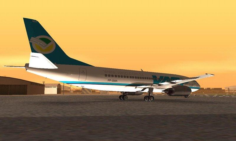 GTA San Andreas Boeing 737-200 VASP PP-SMA Mod - GTAinside com