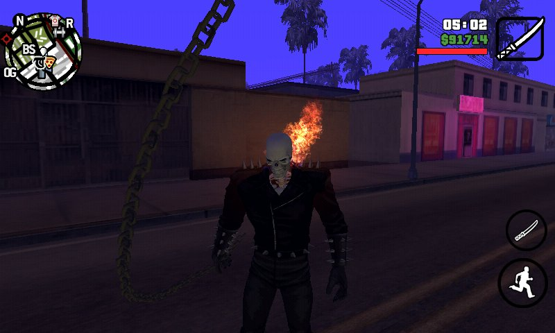 GTA San Andreas GTA SA Mobile Ghost Rider Mod Pack v1 8 Mod