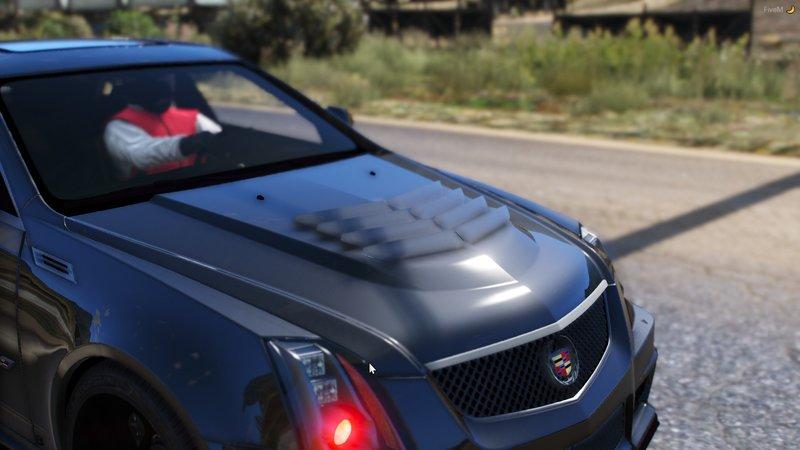 GTA 5 Big Tire Twin Turbo 2012 Cadillac CTS-V [FIVEM] Mod