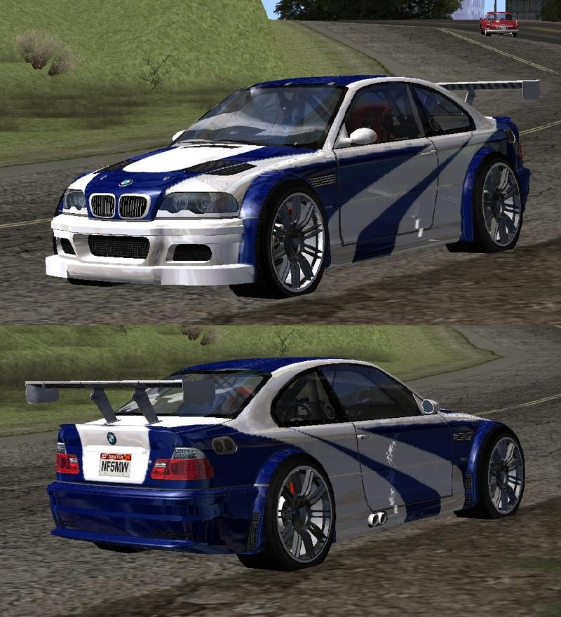 Gta San Andreas 2001 Bmw M3 E46 Gtr Most Wanted 2012 Style V1 0