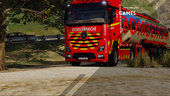 Portuguese Fire Department Volunteers Mercedes-Benz Actros Euro6 + Trailer Tanker