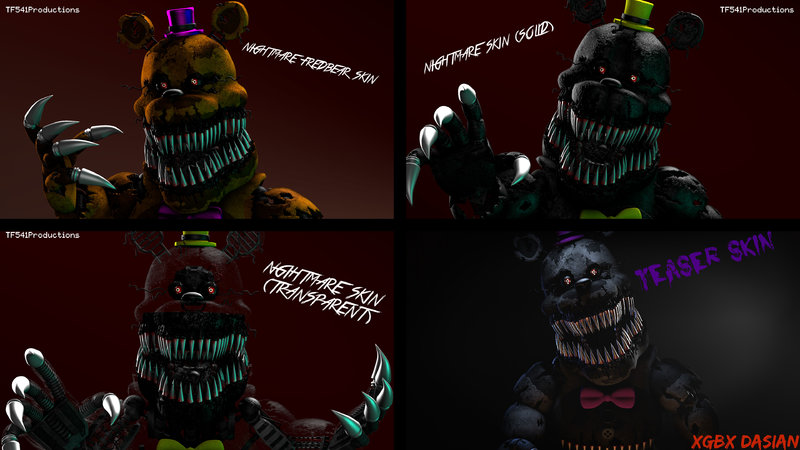 GTA San Andreas Five Nights at Freddys 4 Skin Pack [COMPLETE] with