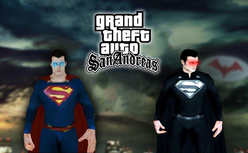 GTA San Andreas CW Superman | Black Superman From The